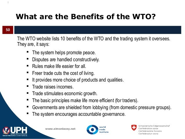 10 benefits of wto On august 22, 2012, after 18 years of negotiations, russia became the 156th formal member of the world trade organization (wto) with the world's ninth largest market, a $19 trillion economy, and—with a population of 140 million—europe's number one consumer market, russia was the largest economy in the world that was not a.