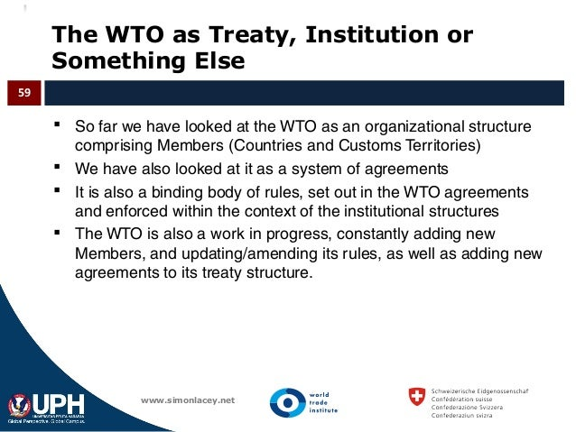 The good the bad the wto