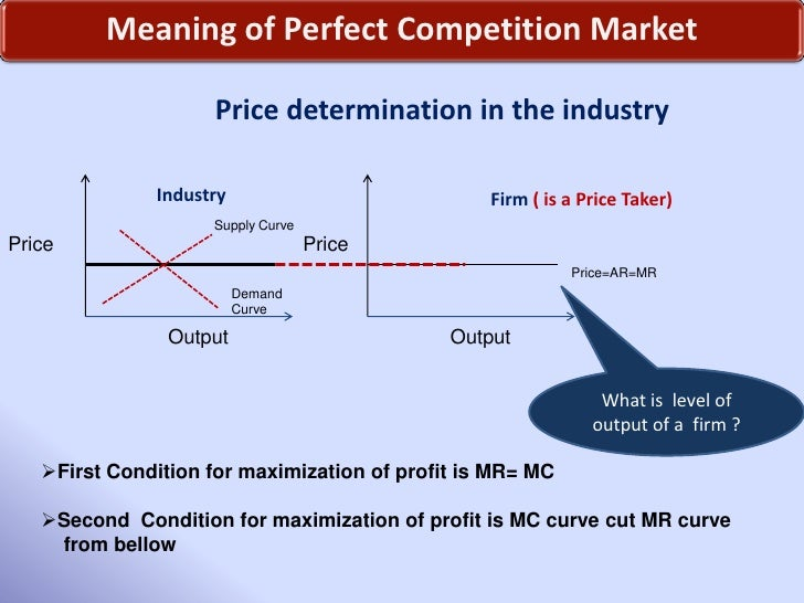 what do you mean by perfect competition