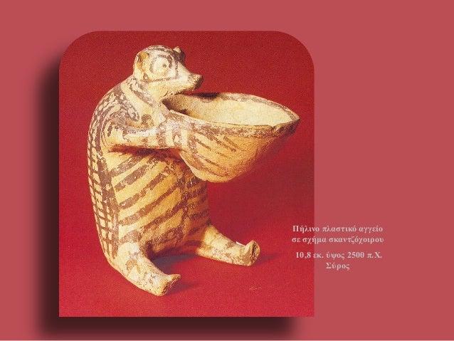 Πήλινο πλαστικό αγγείο σε σχήμα σκαντζόχοιρου  10,8 εκ. ύψος 2500 π.Χ. Σύρος