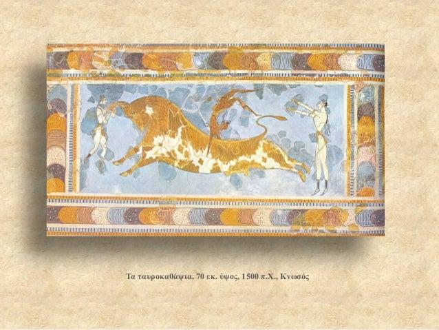 Τα ταυροκαθάψια, 70 εκ. ύψος, 1500 π.Χ., Κνωσός