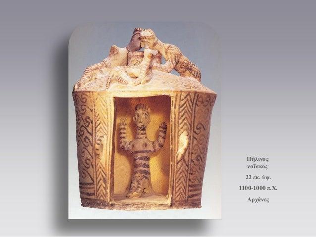 Πήλινος ναΐσκος  22 εκ. ύψ.  1100-1000 π.Χ.  Αρχάνες