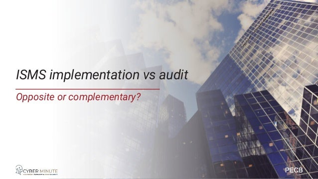 Officially starts with external audit but…. • You can use the audit techniques during initial implementation • Implement p...