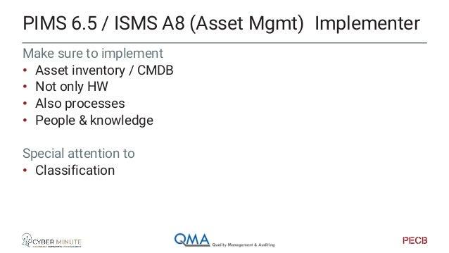 ISMS labels categ. PIMS lables Serving 0 - Public Non PII/GDPR Enterprise 1 – Internal Enterprise 2 - Strict internal Ente...