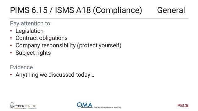 The audit view of ISO27701 Focus on evidence