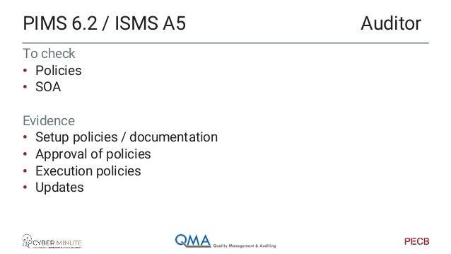 Check for • organigram • Company organisation • RACI • Segregation of duties Evidence • Roles & responsibilities descripti...