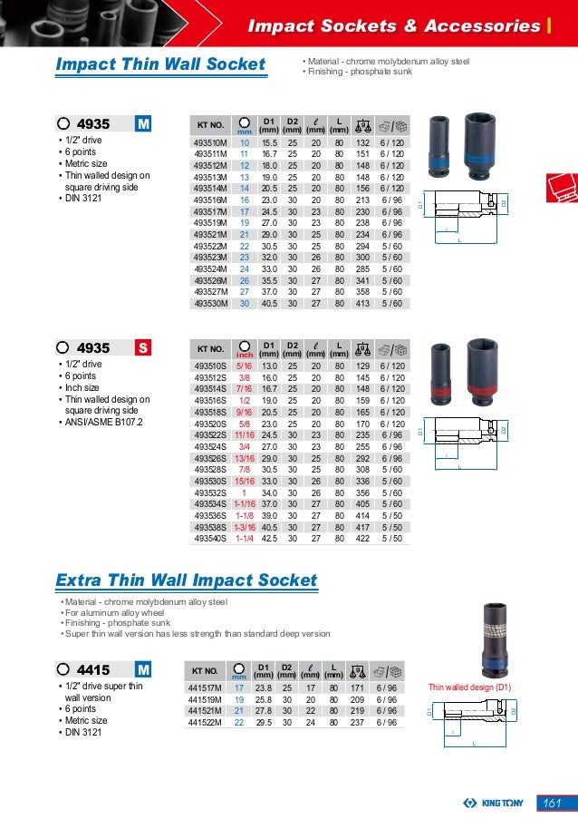 Impact Socket 6Kt 1//2 21