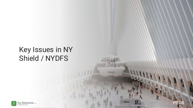 • Effective: 10/19 (breach) 3/2020 (infosec) • Holding personal information of NY residents • Broad definition (CC number,...