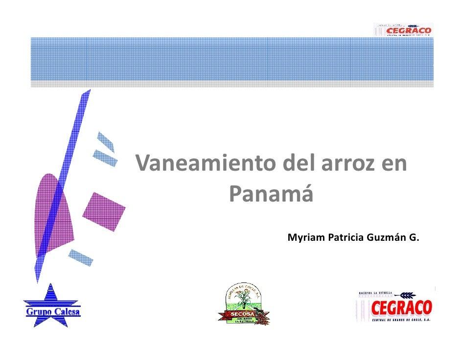 Vaneamiento d l V     i t delarrozen        Panamá             MyriamPatriciaGuzmánG.