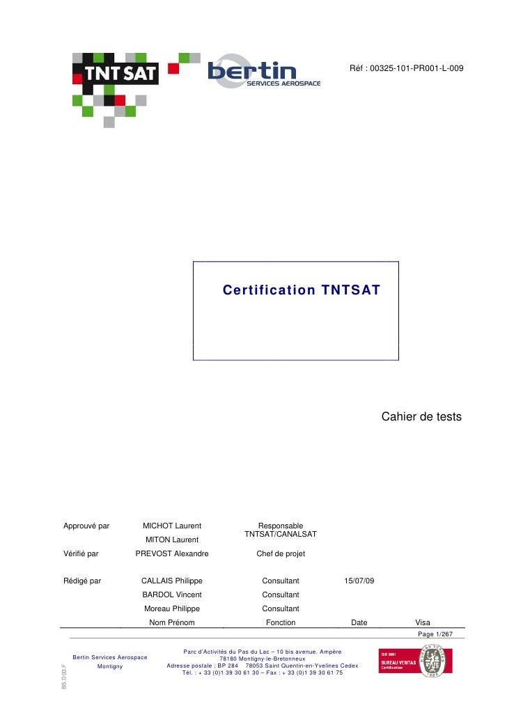 00325 101 Pr001 L Cahier Tests 090715