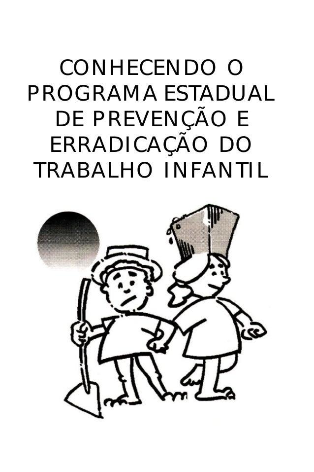 CONHECENDO O PROGRAMA ESTADUAL DE PREVENÇÃO E ERRADICAÇÃO DO TRABALHO INFANTIL