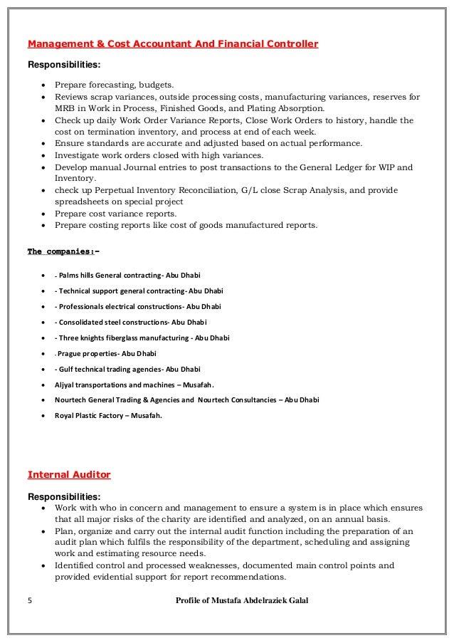 Mustafa cv - Public accountant &Auditor and Financial Controller&advi…