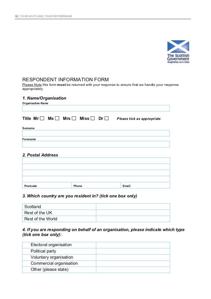 32   YOUR SCOTLAND, YOUR REFERENDUM                                             Your Scotland, Your Referendum         ...