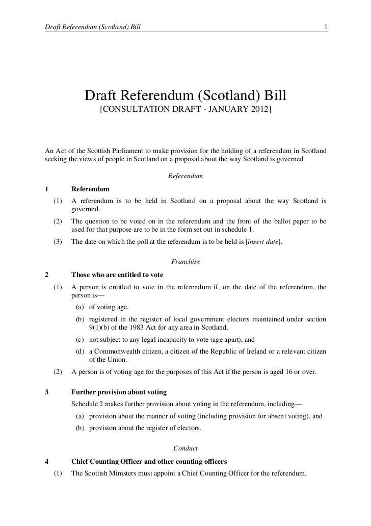 2                                                                 Draft Referendum (Scotland) Bill    (2)   The Chief Coun...