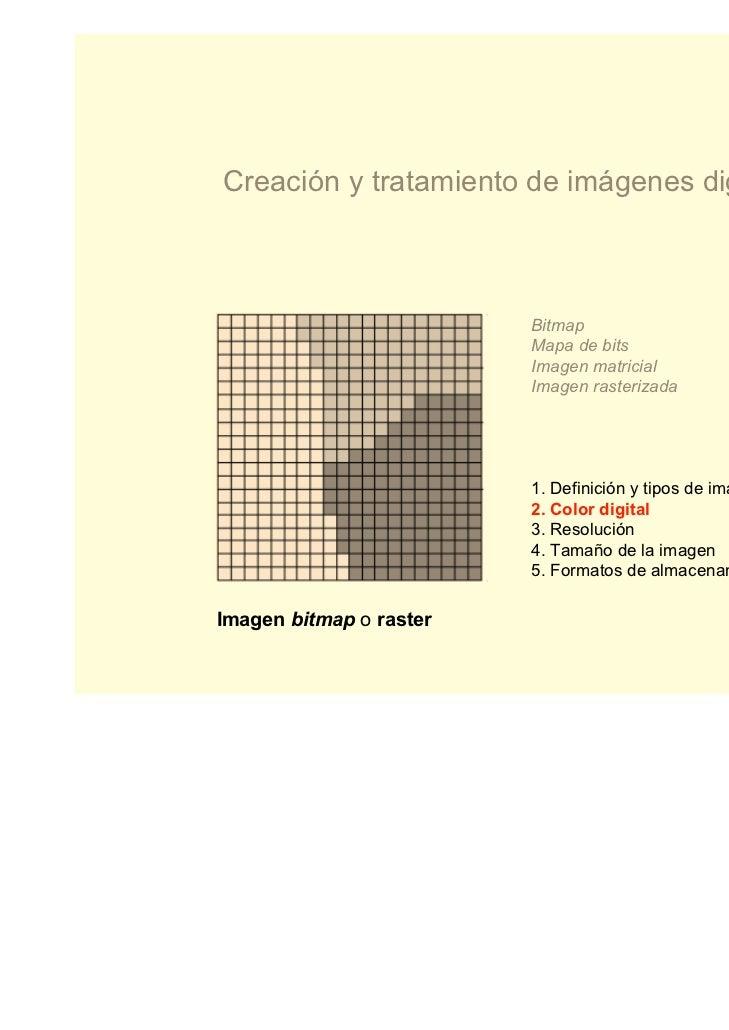 Creación y tratamiento de imágenes digitales                         Bitmap                         Mapa de bits          ...