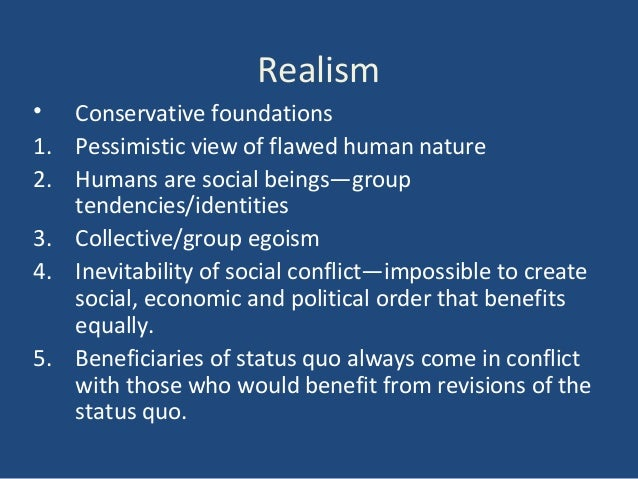 Pessimistic View Of Human Nature