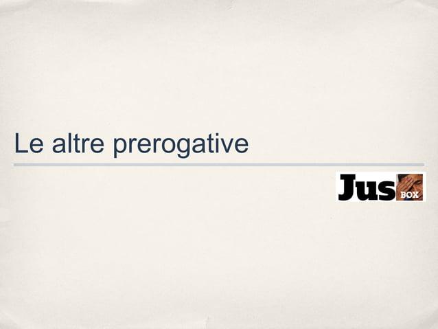 Le altre prerogative