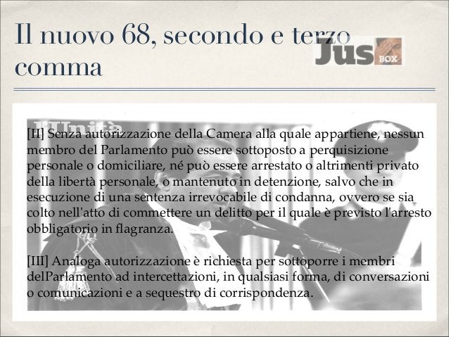 L'art. 6, legge 140/2003