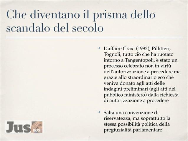 L'anatomia dello scandalo ✤  Nel prisma del diritto costituzionale, l'inviolabilità del primo comma, che ha il valore di u...