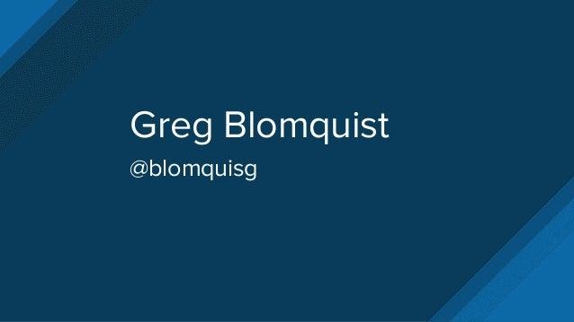 Greg Blomquist @blomquisg