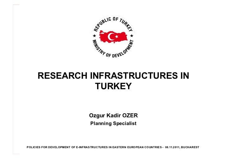 RESEARCH INFRASTRUCTURES IN                TURKEY                                   Ozgur Kadir OZER                      ...