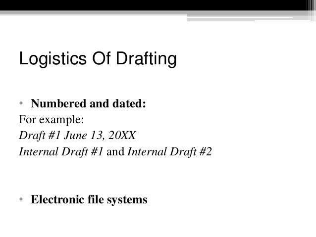 Drafting contract