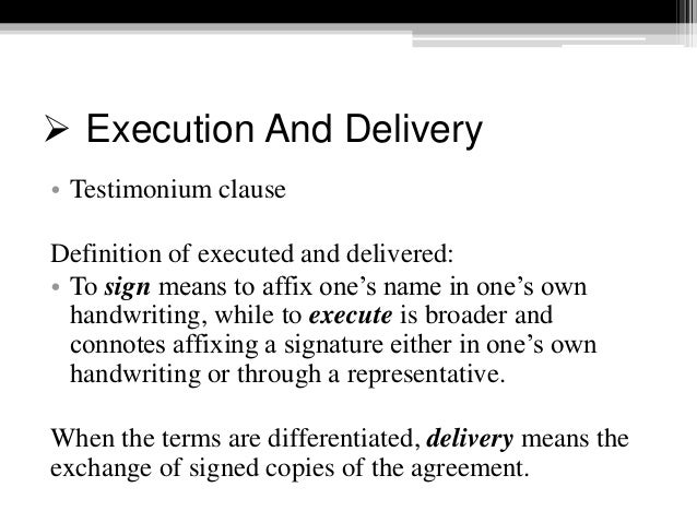 Drafting contract execution acknowledgments 82 platinumwayz
