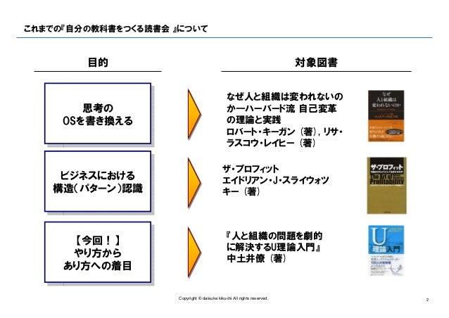 自分の教科書をつくる読書会 ♯003『u理論入門』 v1.0(公開用) Slide 2