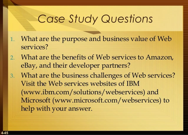 "2 what are the benefits of web services to amazon ebay and their developer partners Think back to the 1990s it was a disruptive time for traditional business models, beginning with the rush for a web presence, followed by the shift from bricks and mortar to so-called ""clicks and mortar"" today, application programming interfaces – commonly known as apis – are the new must."