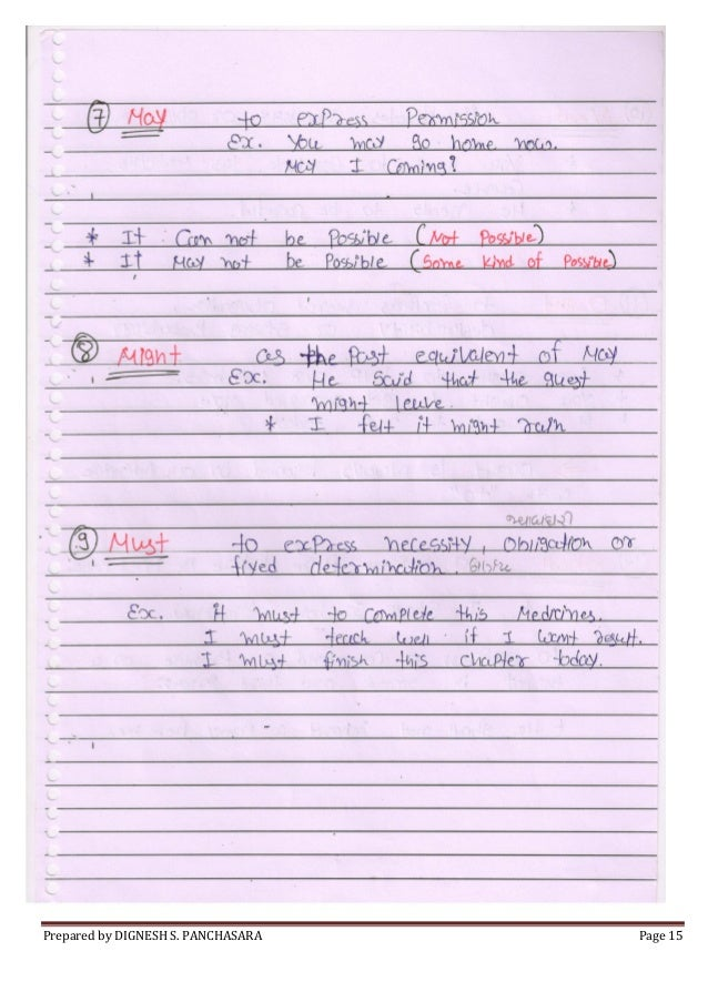 english grammar notes pdf basic