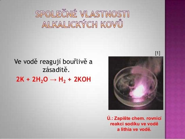 Alkalicke Kovy Upravene