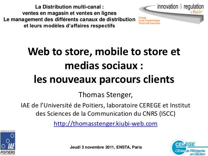La Distribution multi-canal :      ventes en magasin et ventes en lignesLe management des différents canaux de distributio...