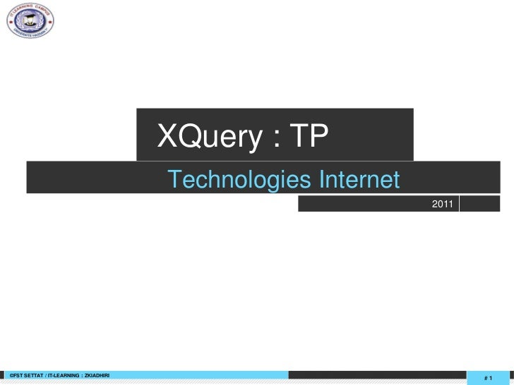 +                +                                            XQuery : TP                                            Techn...