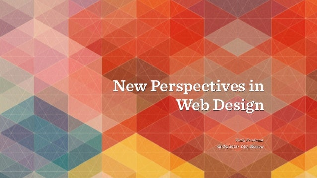New Perspectives in Web Design Vitaly Friedman 02/10/2013 • YAC, Moscow