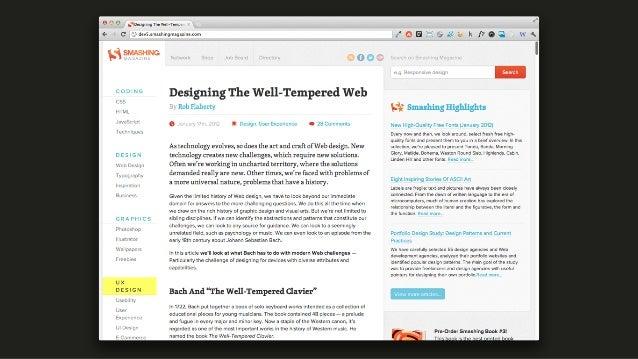 """Responsive Web Design: Clever Tips and Techniques"". Vitaly Friedman, Smashing Magazine Slide 3"