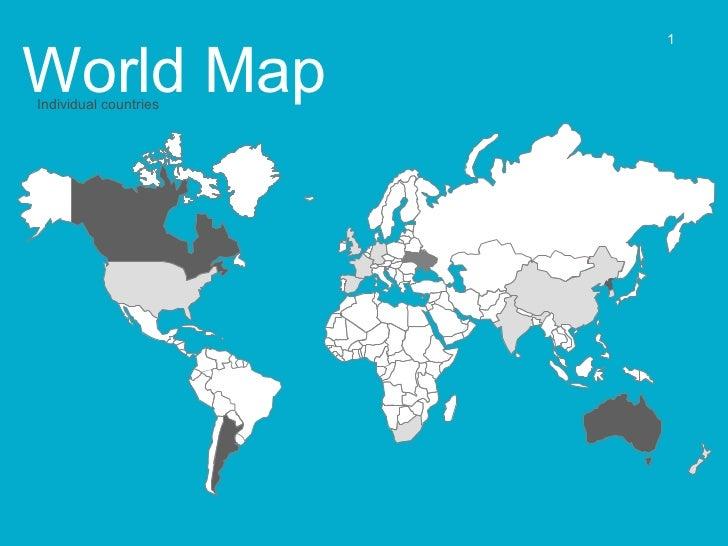 World Map  Individual countries