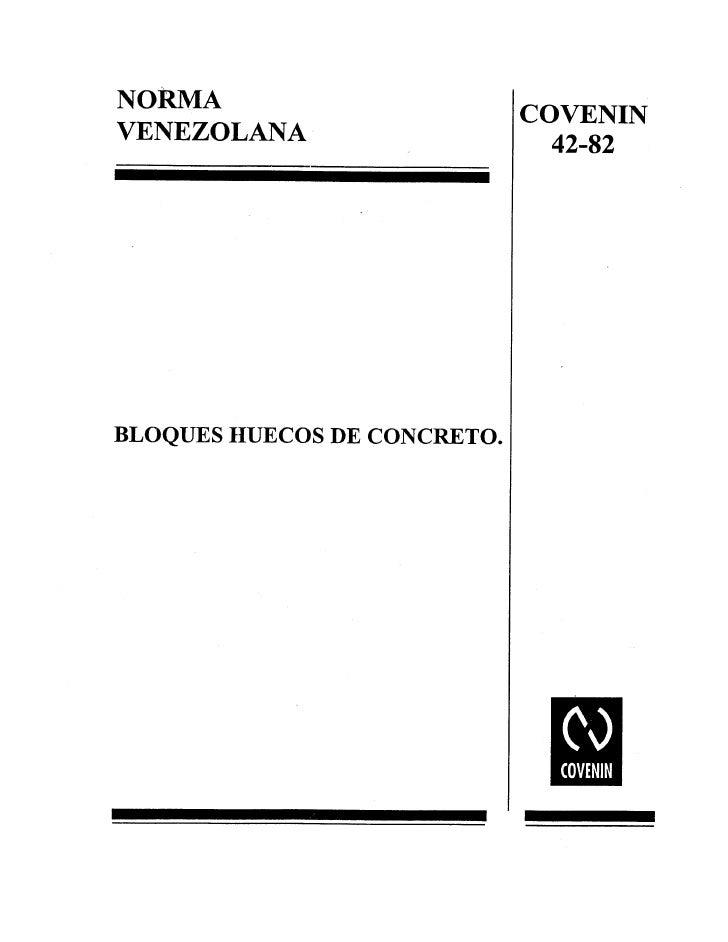 0042 1982 Norma Bloques Concreto