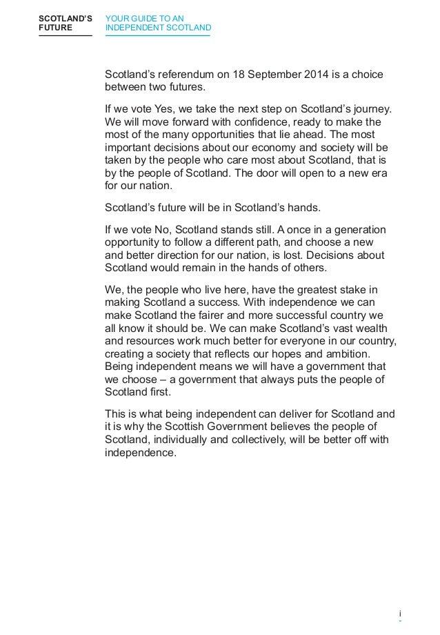 Scotland's Future Slide 3