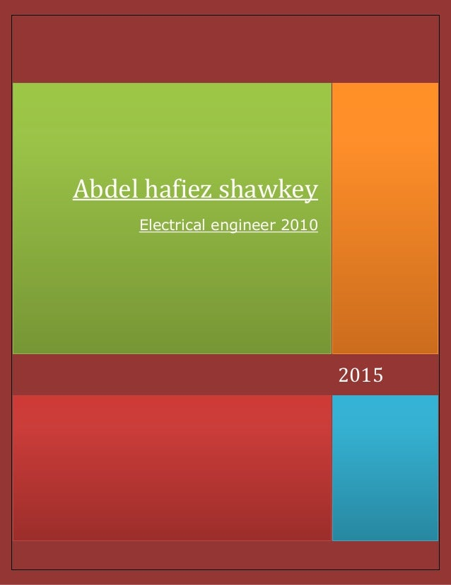 2015 Abdel hafiez shawkey Electrical engineer 2010