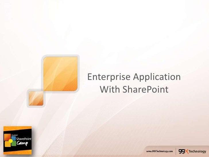 Enterprise Application   With SharePoint