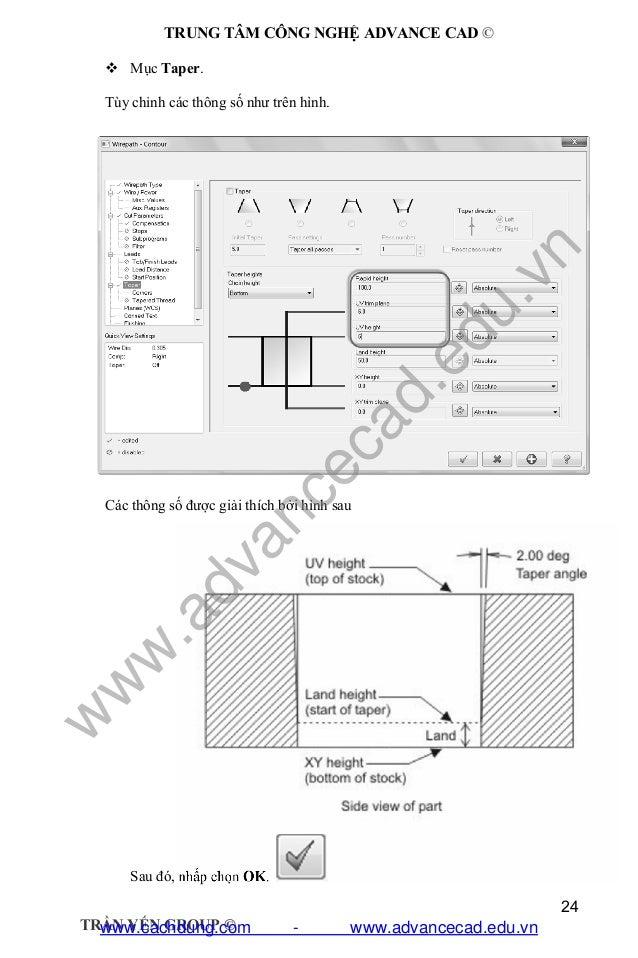 Giáo trình lập trình cắt dây EDM Mastercam X6