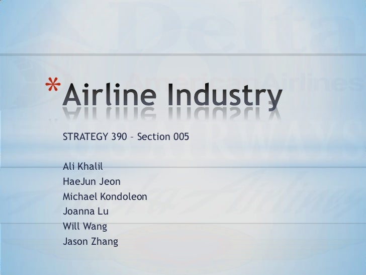 the airline industry analysis and the Executive summary the main focus of this analysis is to observe the us airline industry as a whole, which would reveal the top and bottom preforming firms within the industry.
