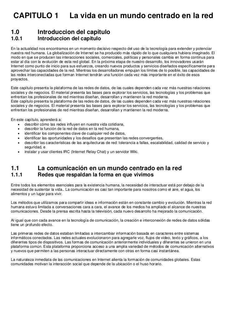 CAPITULO 1                         La vida en un mundo centrado en la red1.0             Introduccion del capitulo1.0.1   ...