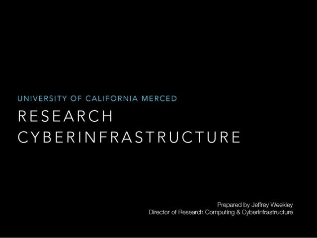 RESEARCH CYBERINFRASTRUCTURE Jeff Weekly