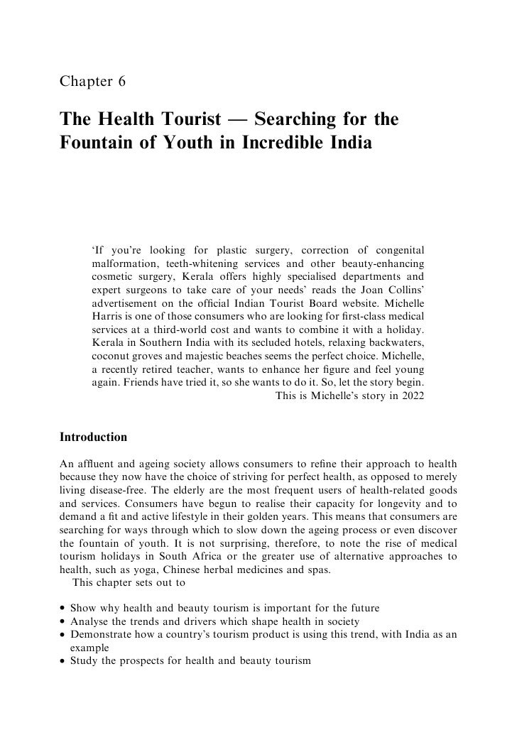 Chapter 6  The Health Tourist — Searching for the Fountain of Youth in Incredible India           'If you're looking for p...