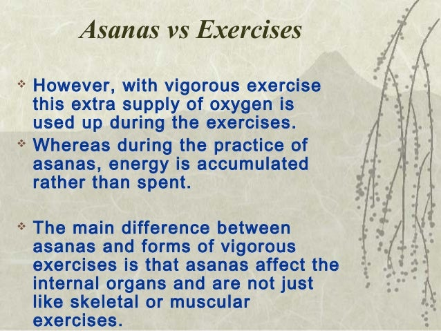 difference between yoga and physical exercise pdf