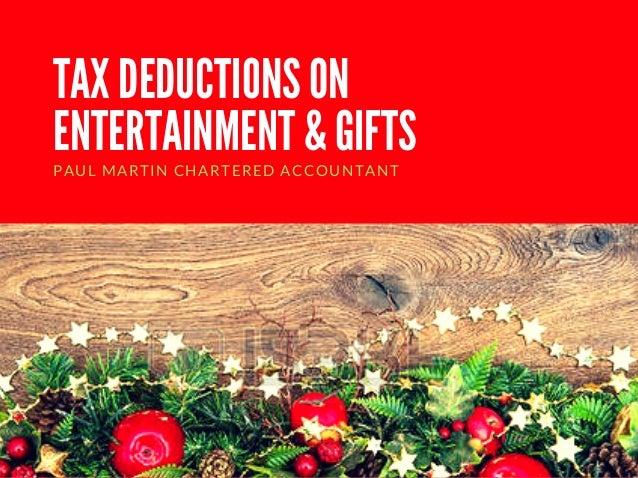 Christmas Accountant.Tax Deductions On Entertainment And Gifts This Christmas Season