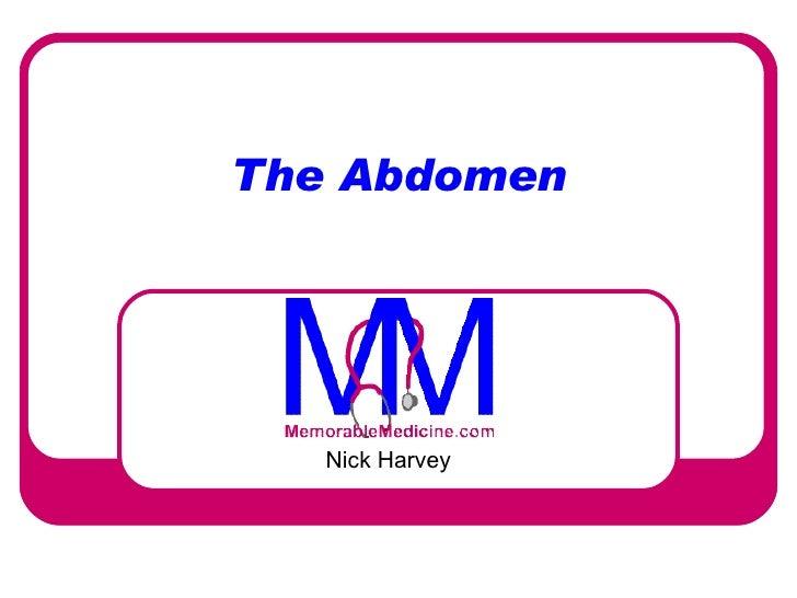 The Abdomen Nick Harvey
