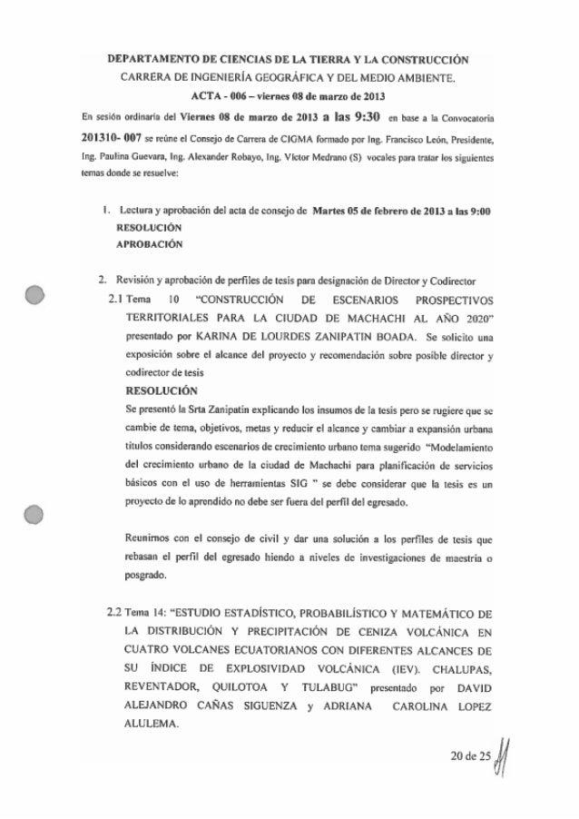 Acta N°006