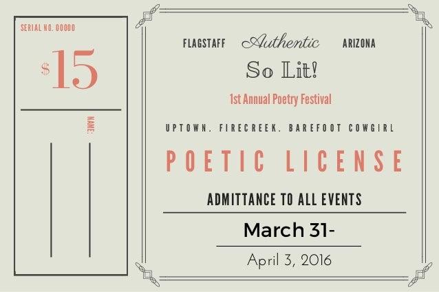 Poetic License >> Poetic License Pass